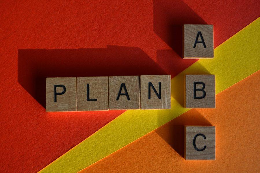 Plan A, Plan B or Plan C. Three possible strategies.